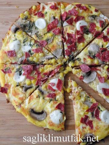 yumurtalı lavaş pizza