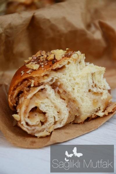 damla sakızlı elmalı çörek