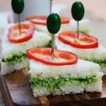 ıspanaklı sürmeli sandviç
